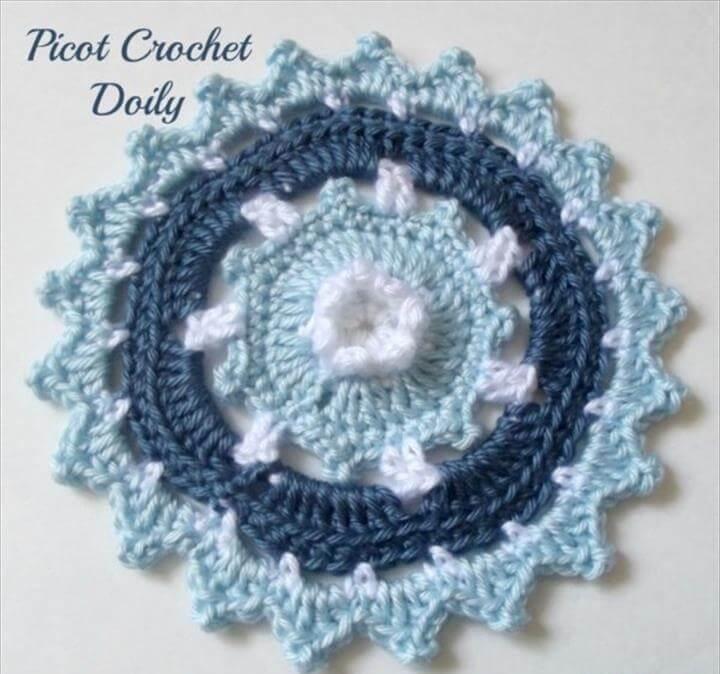Picot Crochet Doily