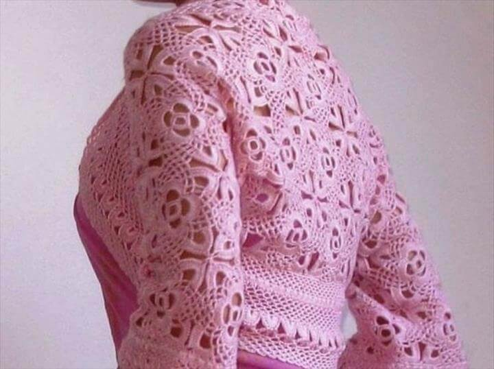 crochet bolero shrug pattern