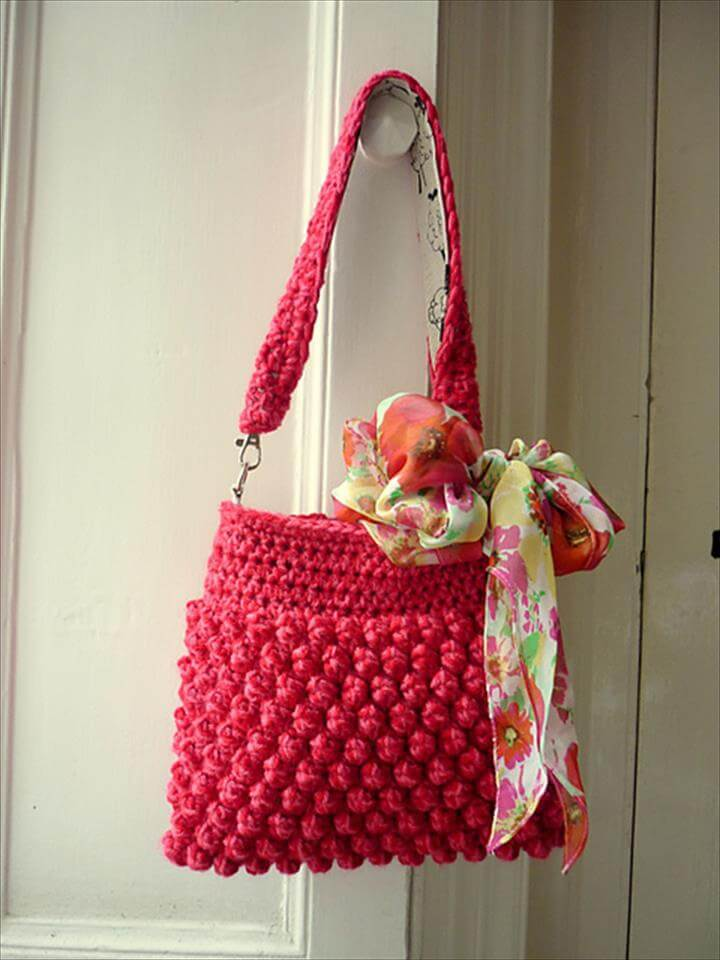 42 Fabulous Handmade Crochet Bag Amp Purses Diy To Make