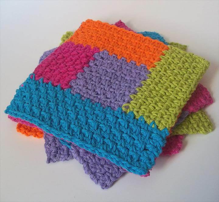 Simply Square Log Cabin Dishcloth