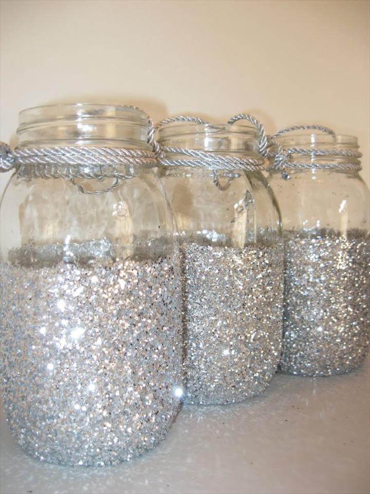 Sparkly Mason Jars