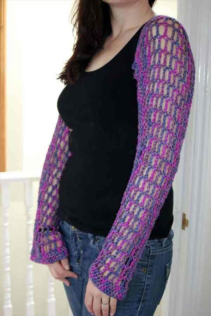 Crochet Shrug Pattern (using Silk Earl Aran)