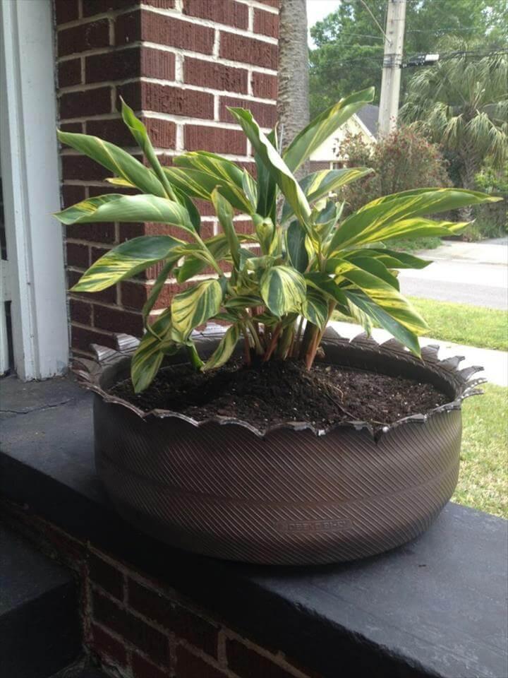 garden ideas tires DIY ideas garden plants