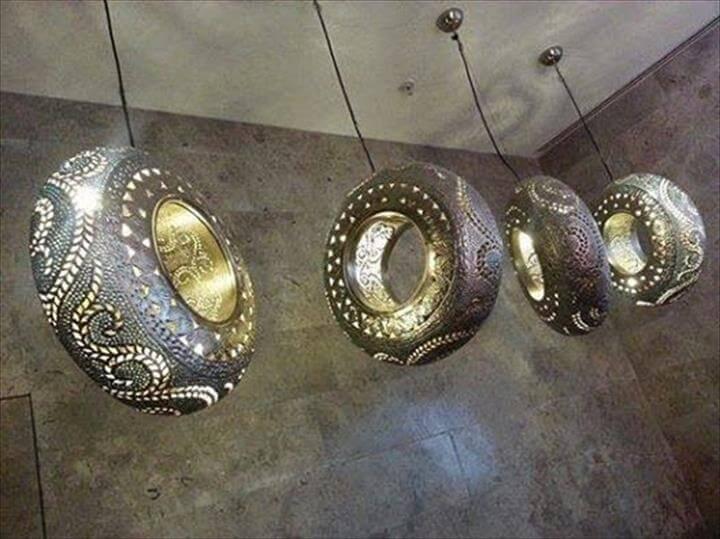 tires into hanging chandelier pendant lights