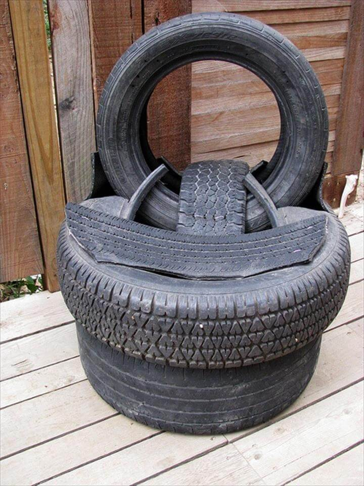 diy tire chair
