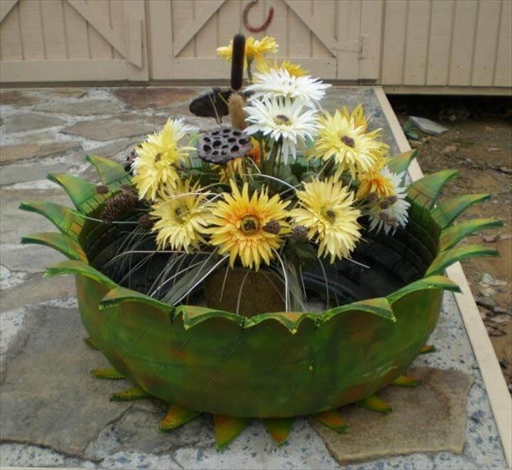 diy tire garden decor