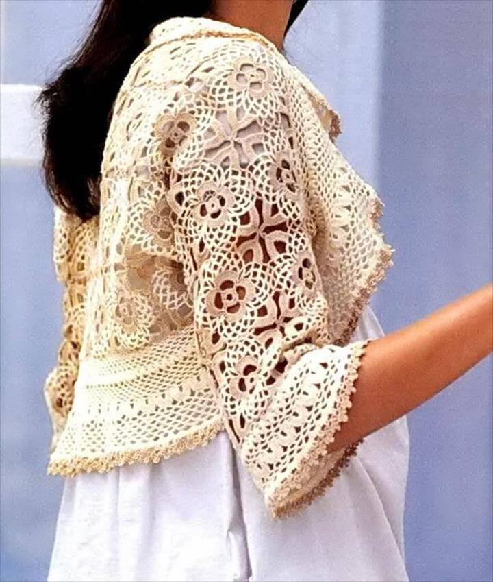 Crochet Free Pattern Of Wonderful Shrug For Women