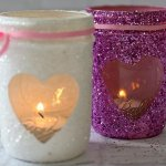 35 DIY Glitter Mason Jar Tutorial