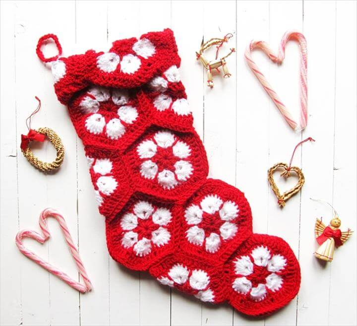 African Flower Stocking For I Like Crochet