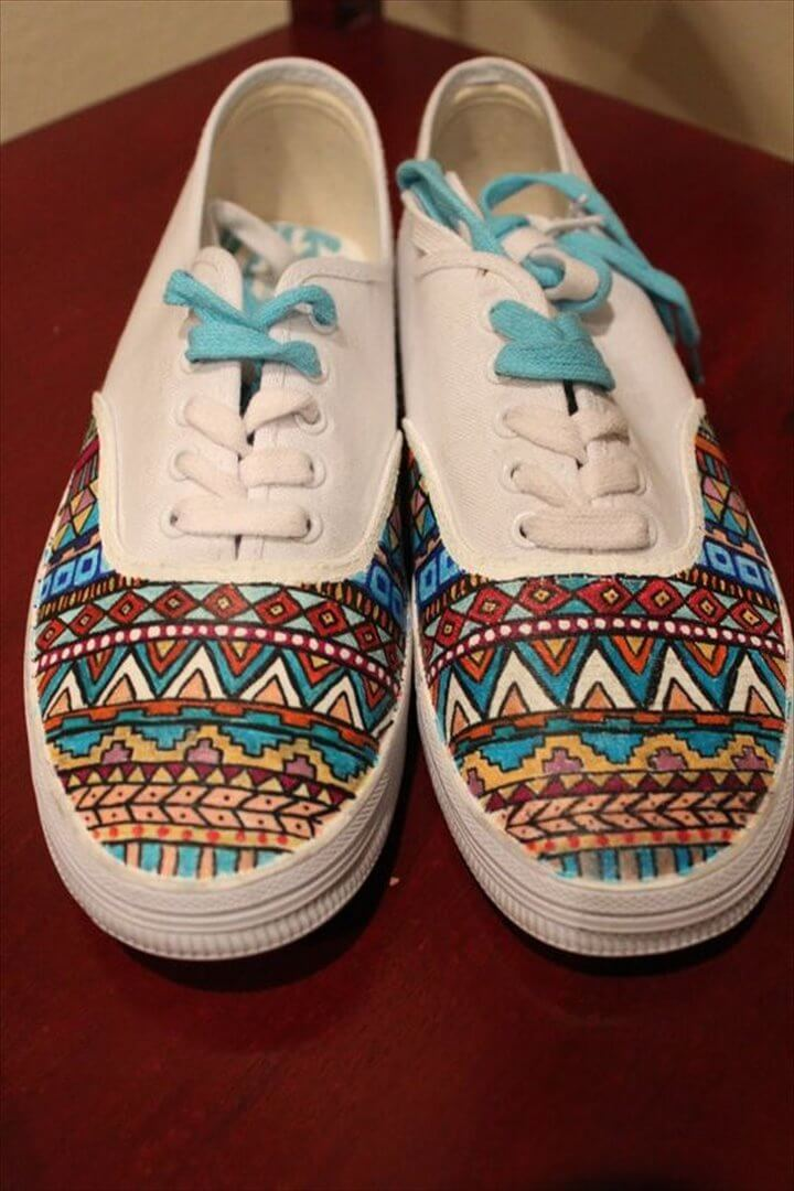 amazing handmade painted sneakers