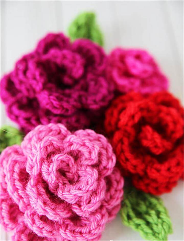 crochet flower DIY