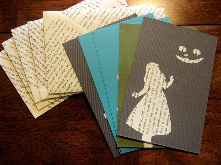 Greeting Cards Made From Old Books