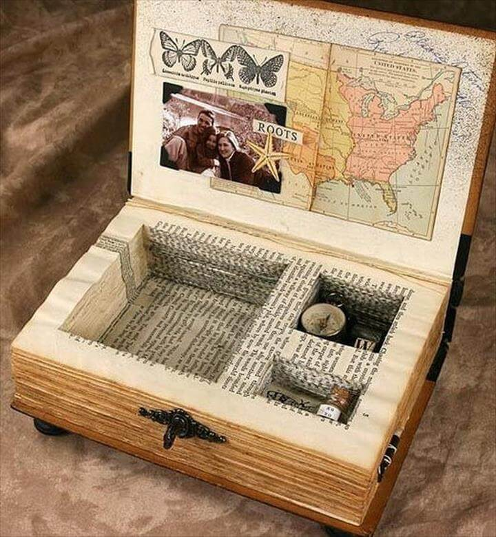 using an old book as a JEWELRY hidden box