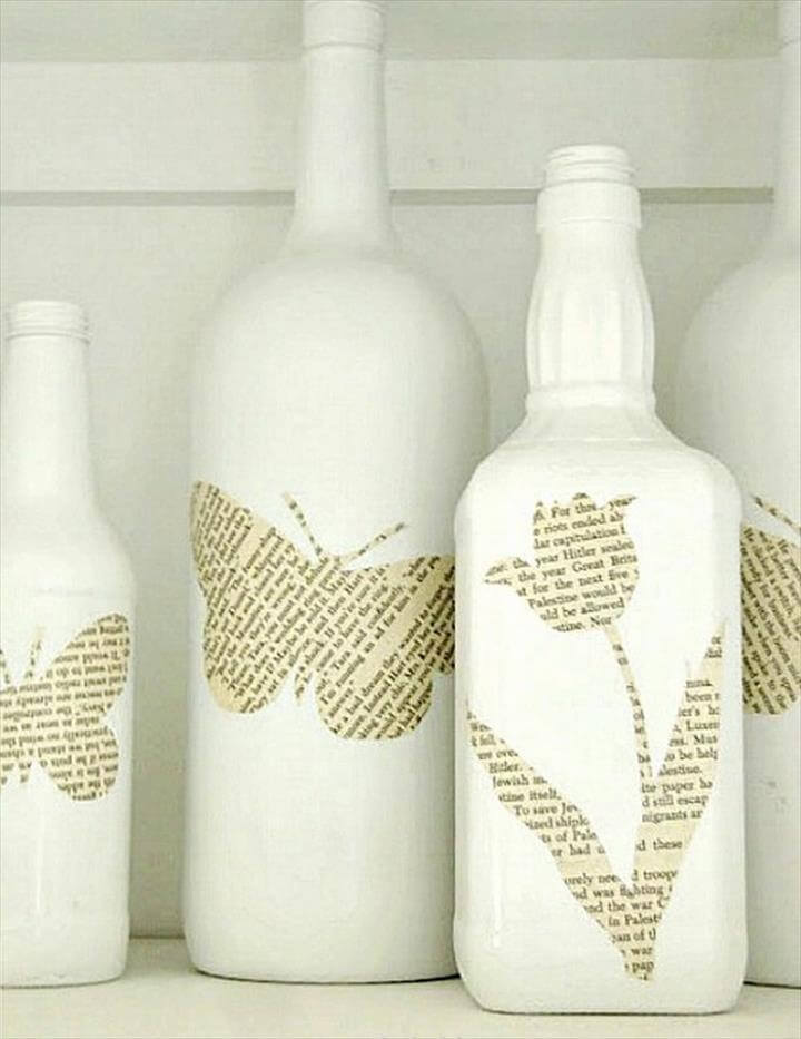 Book Pages Bottle Art Christmas Tree Made with Old