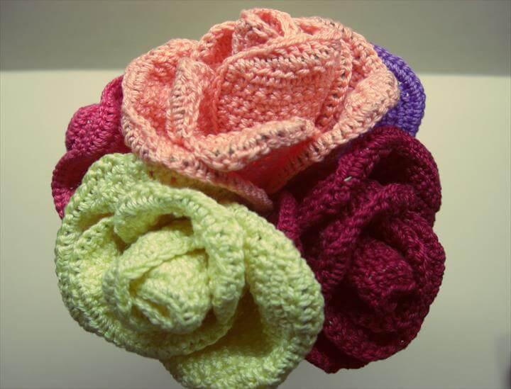 Crocheted Flower Bouque