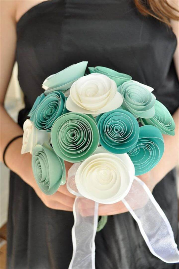 Bridal Bouquet Paper flower Bouquet Bridesmaid bouquet alternative bouquet