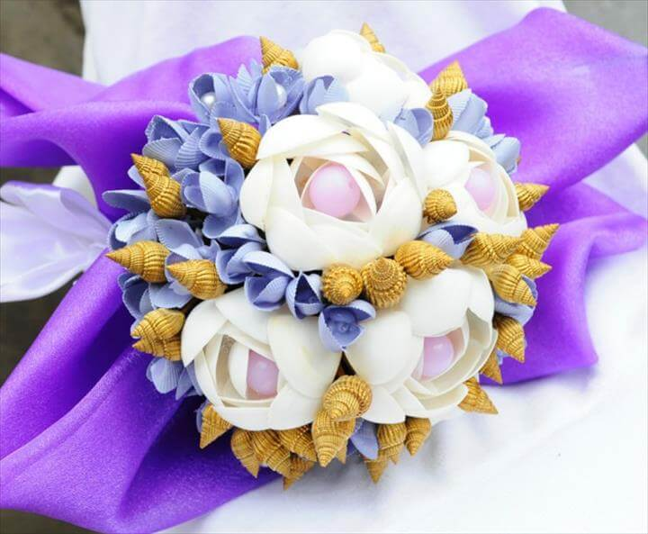 bridal bouquet shell snails of diy ideas wedding