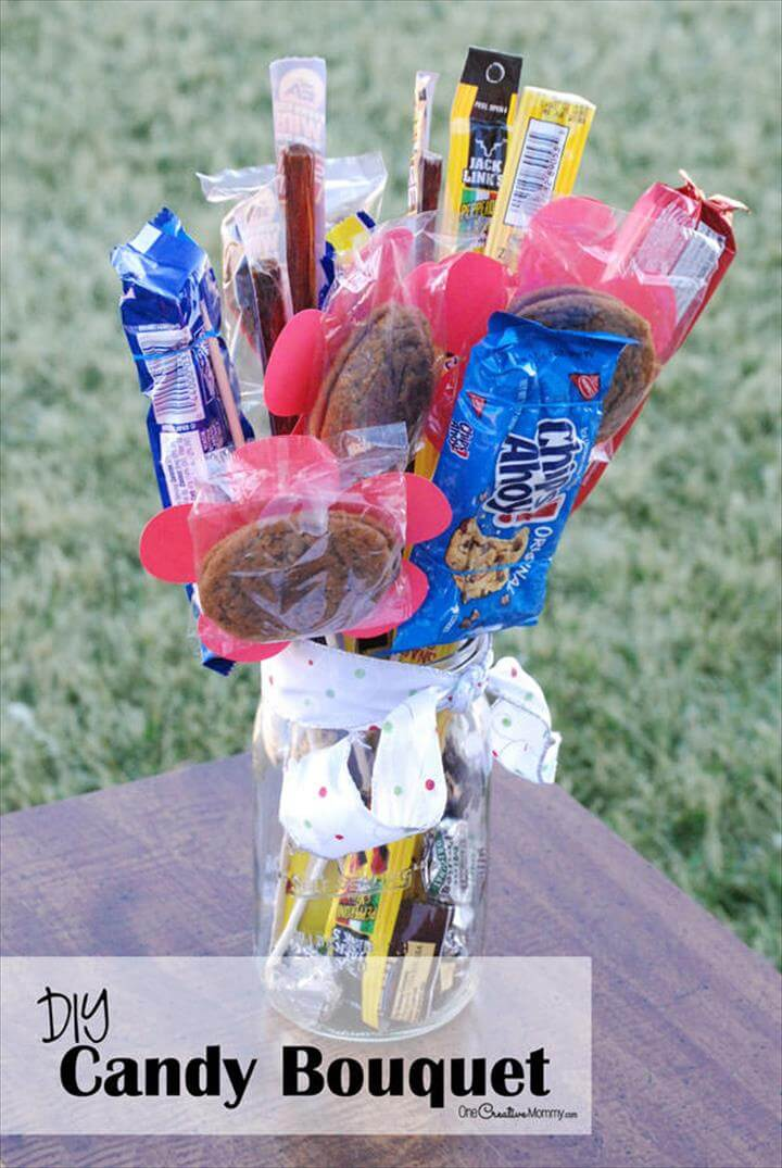 DIY Man Bouquet / Candy Bouquet -- Perfect for Father's Day and Valentines Day!