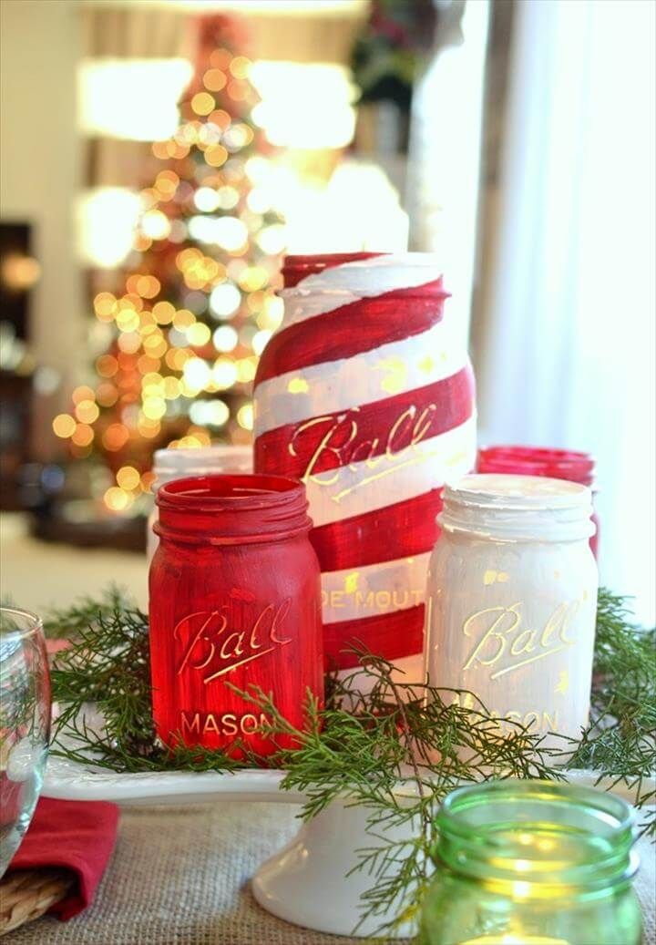 DIY Mason Jar Christmas Decorations