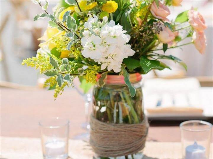 Centerpiece Jar Ideas : Mason jar decor centerpiece ideas diy to make