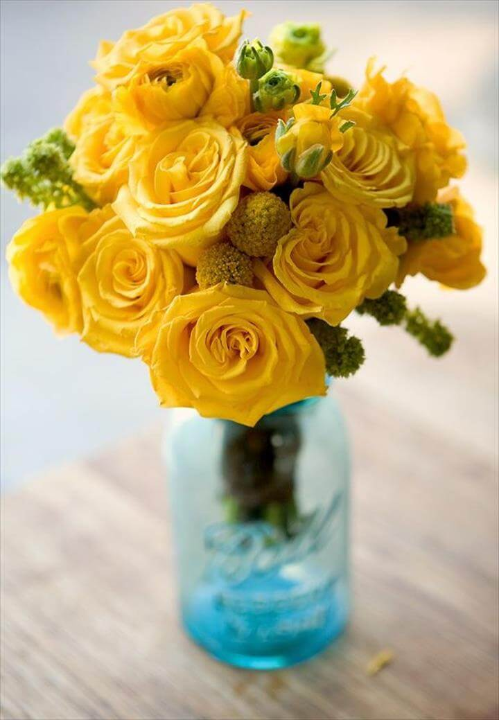 Mason Jar Centerpiece Designs – Cheap Easy &DIY Mason Jar Centerpieces Blue Mason Jar Centerpieces Yellow Flowers DIY Mason Jar Centerpieces Blue Mason, Unique Wedding Party Day