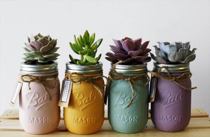 Image result for Mason Jar Planter