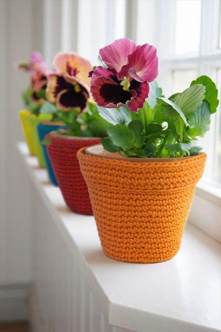 amazing colorful flower pot covers
