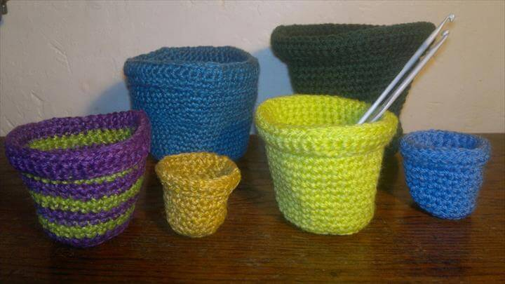 Flower Pots By Ruth Norbury Crocheting Pattern
