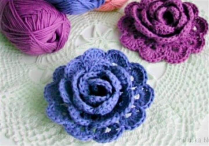 34 Easy Quick Crochet Flowers Pattern Diy To Make