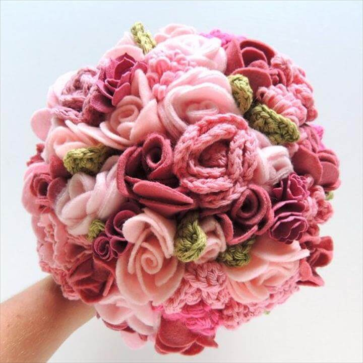Keepsake Bouquet Pink and Blush Crochet