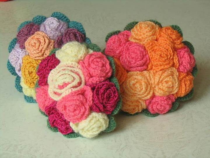 Free pattern for bouquet of roses