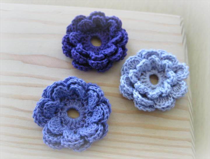 Crochet a Flower Accent - free pattern