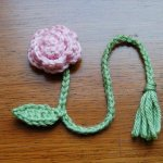 Flower Bookmark Stem - Free Pattern.
