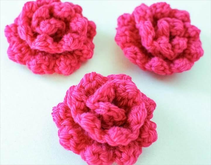 crochet flower pattern - rose