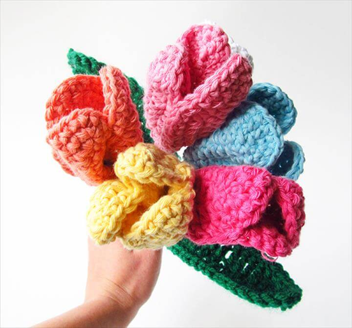 Crochet flowers - Tulip bouquet