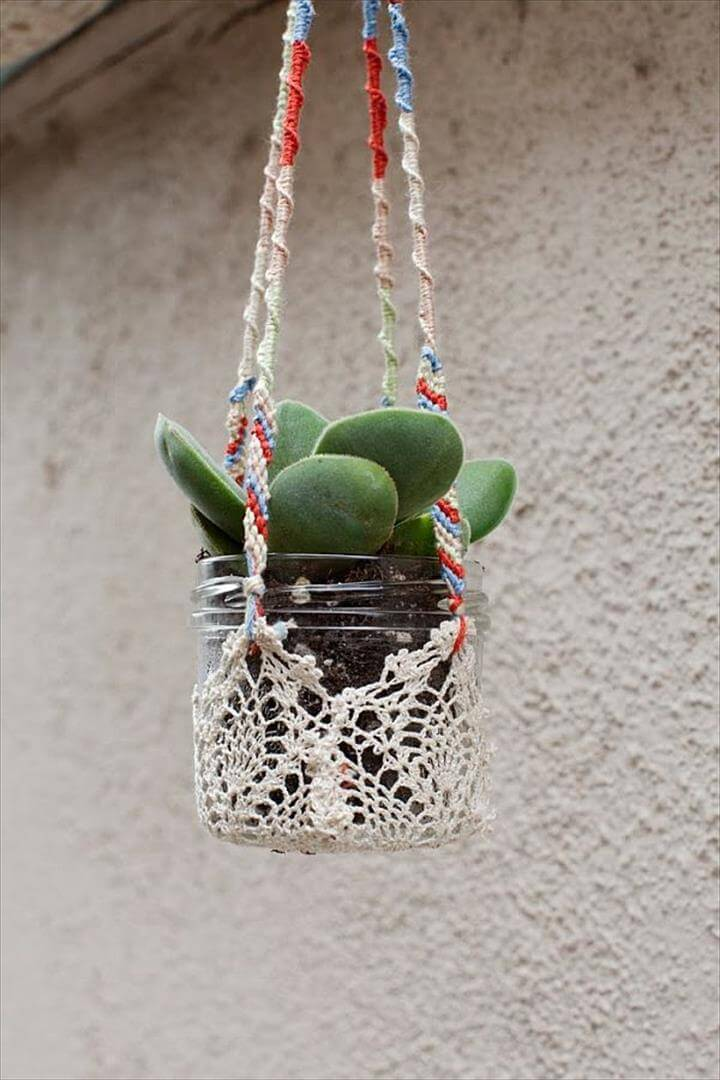 Glass Jar planters