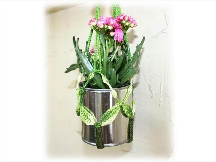 13 Easy Crochet Flower Pot Hanging Diy To Make