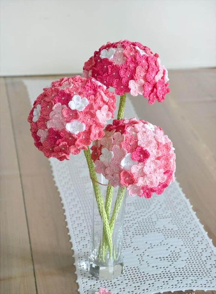 34 Easy Quick Crochet Flowers Pattern