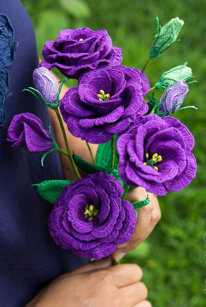 Crochet Lisianthus Flower pattern