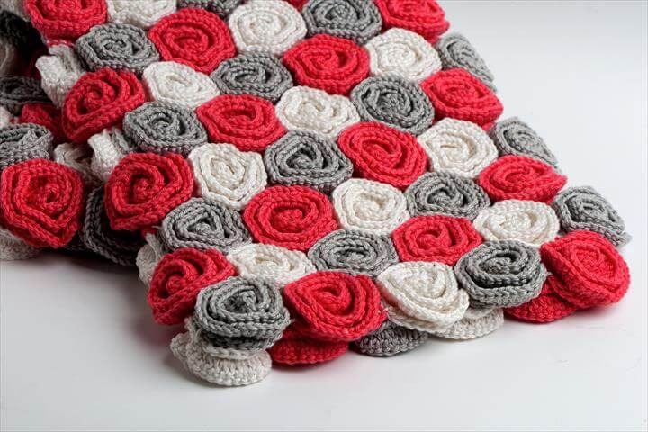 Crochet Pattern Rose Field