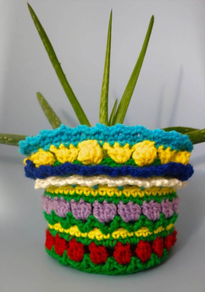 Crochet Flower Pot Sweater