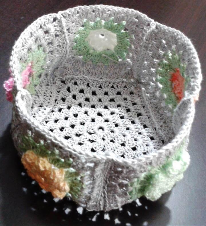 Cute Little Crochet Basket.