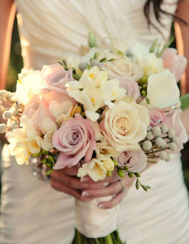 DIY Bride's Bouquet of Spring Wedding Flowers