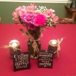 DIY Coffee Bean Mason Jar Centerpiece