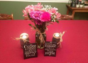 DIY Coffee Bean Mason Jar Centerpiece