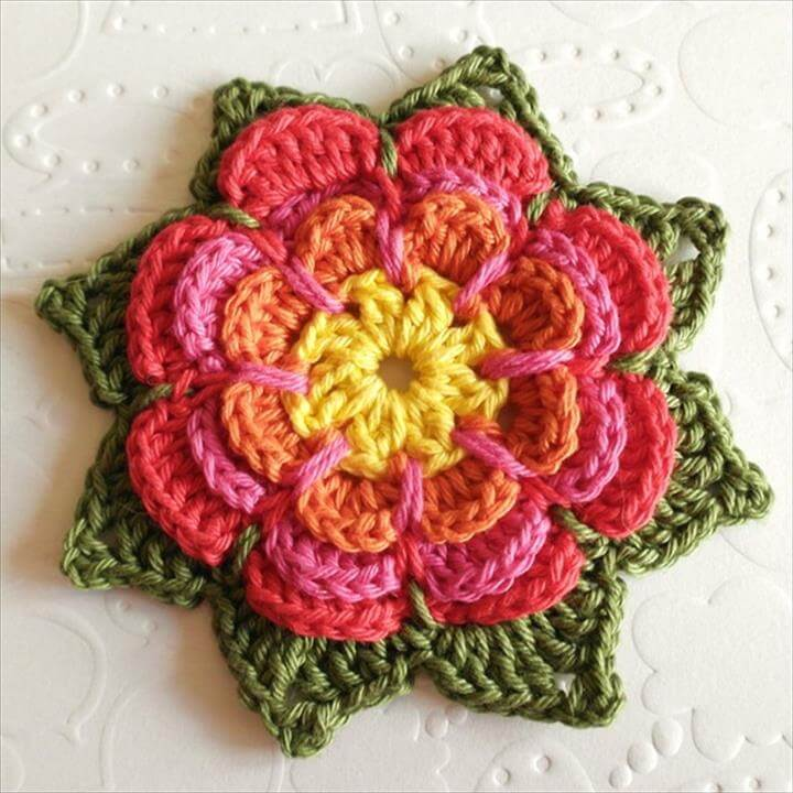DIY crochet flower design