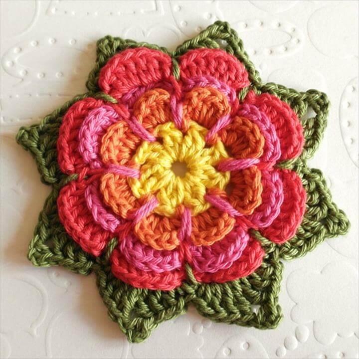 DIY crochet flower design