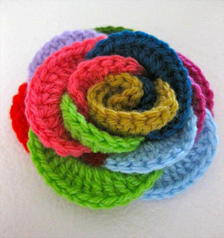 DIY Crochet Interlocking Rose Free Pattern