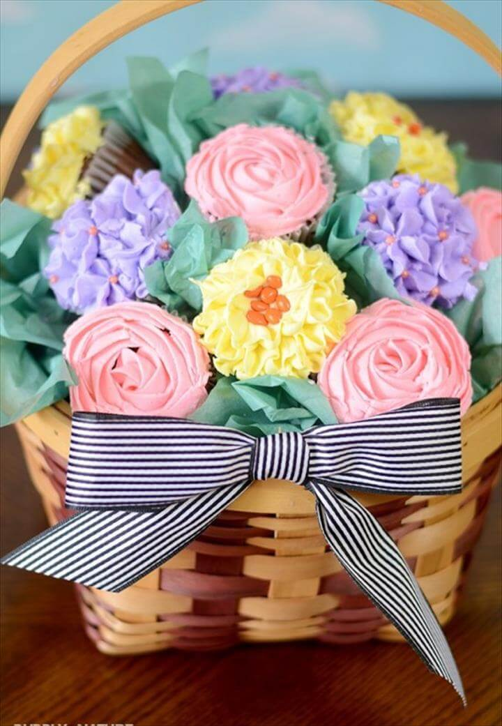 diy cupcake bouquet