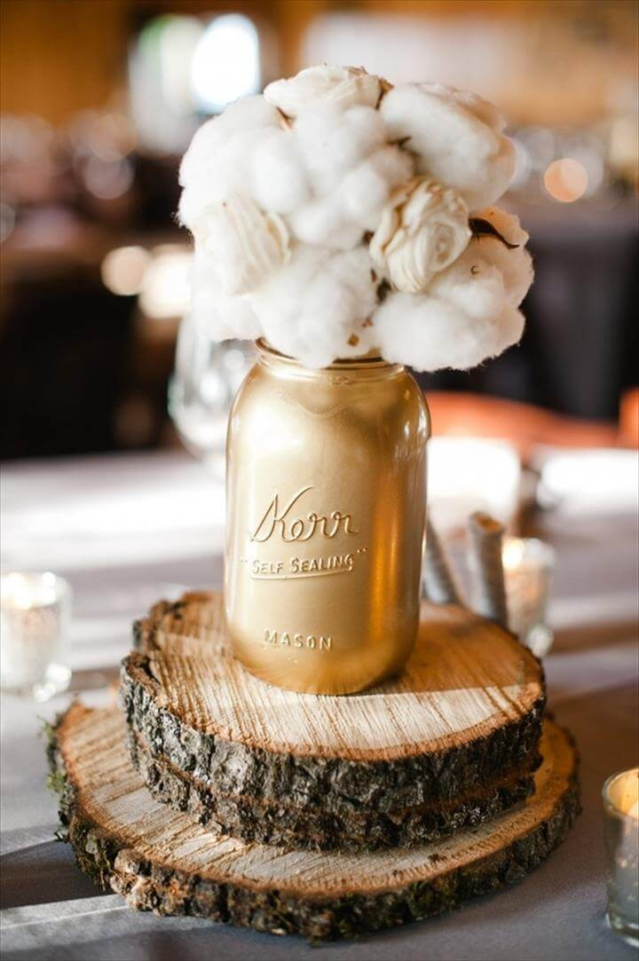 DIY: MASON JAR CENTERPIECES